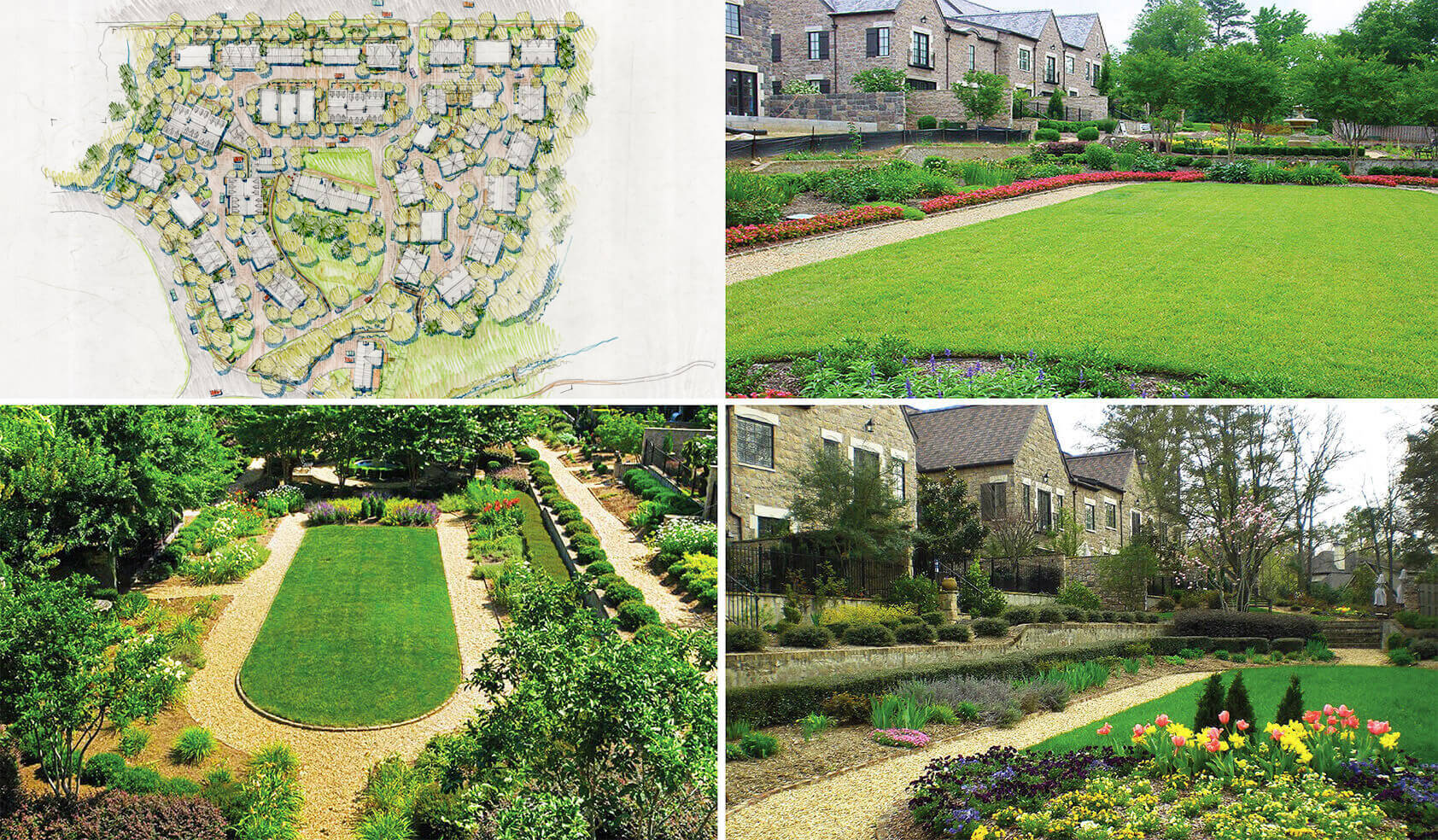 <span>OPEN SPACES</span><br />  Highly Landscaped • Classic Design • Integrated into the Community